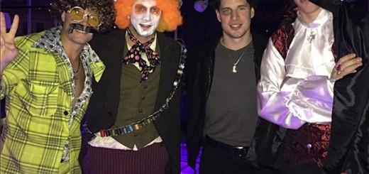 From left to right: Malkin's friend Max Ivanov, Kris Letang, Sidney Crosby, Evgeni Malkin